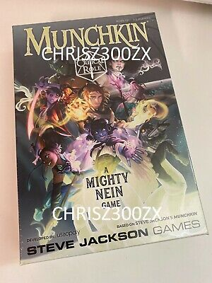 MUNCHKIN CRITICAL ROLE - A MIGHTY NEIN GAME Card Deck Figure D20 Dice SET