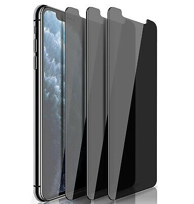 3 Pack Anti-Spy Privacy Glass Screen Protector for iPhone 11 12 13 Pro Max Mini