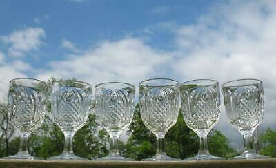 EAPG CLEAR    NEW ENGLAND PINEAPPLE    set of  6  FTD-  GOBLETS