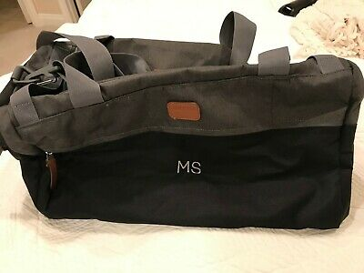 Small travel bag or gym bag with initials MS - new