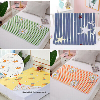 US Incontinence Bed Pads Reusable Washable Baby Adult Waterproof Cover Underpad
