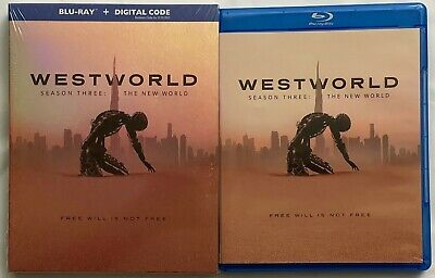 WESTWORLD SEASON THREE THE NEW WORLD BLU RAY 3 DISC SET - SLIPBOX BUY IT NOW WB