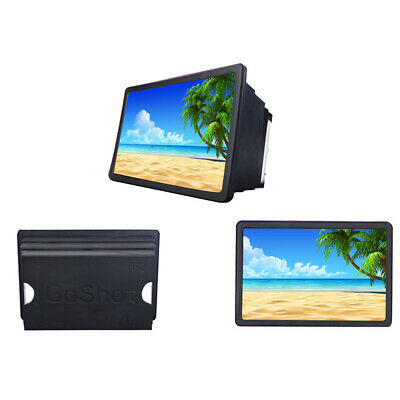 Folding 3D Enlarge Screen Magnifier Amplifier Cell Phone HD Stand Universal S6W3