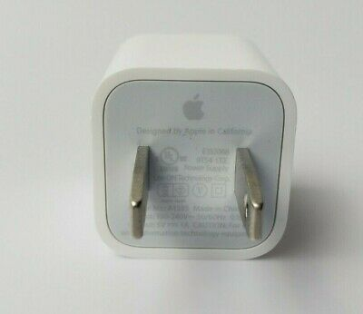 Genuine Apple iPhone 5W Wall Charger Adapter Cube A1385