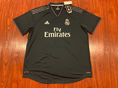 2018-19 Adidas Real Madrid Mens Away Soccer Jersey XXL 2XL Authentic Version