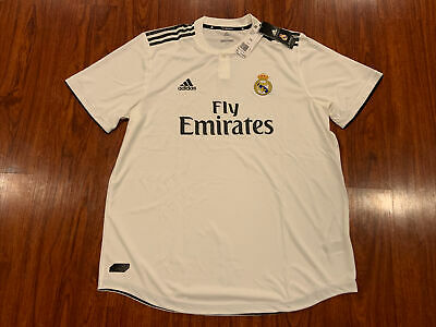2018-19 Adidas Real Madrid Mens Home Soccer Jersey XXL 2XL Authentic Version