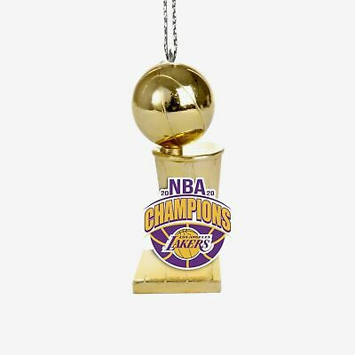 Los Angeles Lakers 2020 NBA Finals Champions Trophy Christmas Ornament