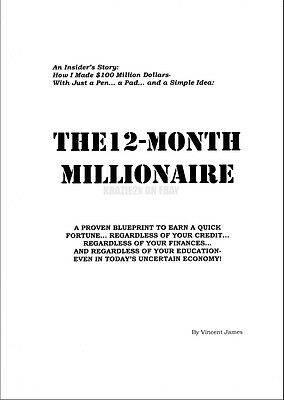 12 Month Millionaire - Vincent James - Original 300-