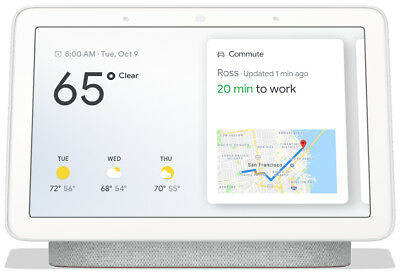 Google Nest Hub with Built-In Google Assistant Chalk GA00516-US