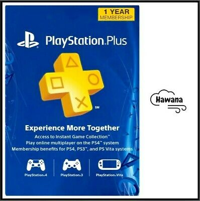 Sony PlayStation Plus PS 12 Month  1 Year Membership Subscription – USA