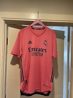 Adidas 2020-21 Real Madrid Authentic Away Jersey GI6462 Pink sz M