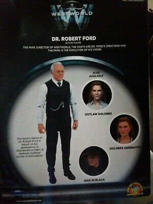 Westworld Dr Robert Ford Figure Diamond  New  Walgreens  Exclusive Box Damage