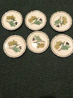 Vintage Noritake Royal Orchard 6 Bread and Butter plates   Excellent Condition