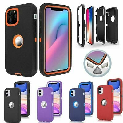 For iPhone 12 Mini 11 Pro X XR Max 6 7 8 Plus Shockproof Case - Screen Protector