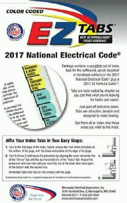 2017 Color Coded EZ Tabs for NEC Code Book NFPA - Free - Fast Shipping - Extras