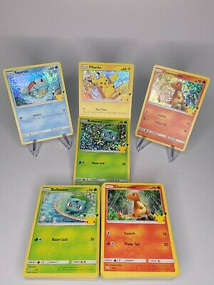 Mcdonalds Pokemon Card 25th Anniversary! COMPLETE YOUR SET EASY! --FREE SHIPPING
