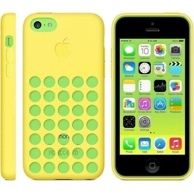 Apple MF038ZMA Silicone Case for iPhone 5c - Yellow