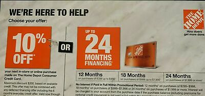 Home Depot Coupon 10 OFF In-Store OR ONLINE EXP 3-31-21