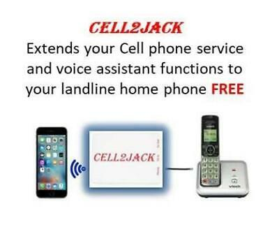 Cell2jack - Cellphone to Home Phone Adapter - Make and Receive Cell Phone Call o