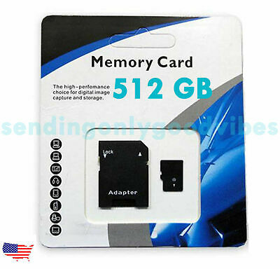 512GB Universal Micro SD SDXC TF Flash Memory Card Class 10