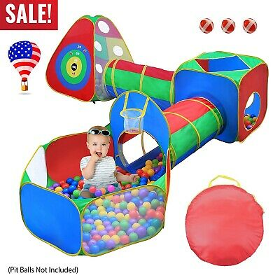 5 in 1 Crawl House Tunnel Portable Kids InOutdoor Toddler Play Tent Ball Pit