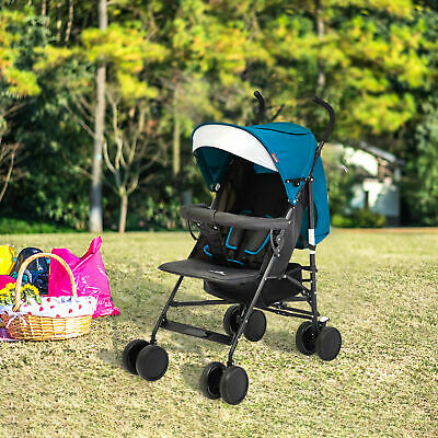 Baby Infant Foldable Umbrella Stroller Lightweight Travel Carriage Safety Blue