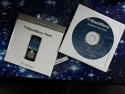 BlackBerry Pearl Manual Guides - PC Softwaer User Tools CD New sealed