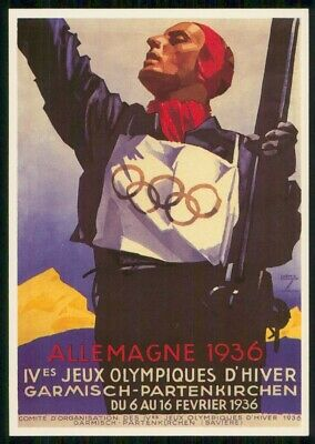 Mayfairstamps Germany 1984 1936 Olympic Games Reproduction Art Postcard wwm59661