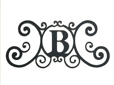 Iron Metal Letter B Personalized Initial Name Wall Art Decoration Minor Defect