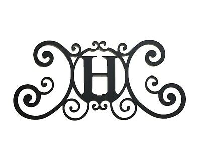 Iron Metal Letter H Personalized Initial Name Wall Art Decoration Minor Defect