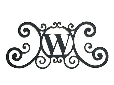 Iron Metal Letter W Personalized Initial Name Wall Art Decoration Minor Defect