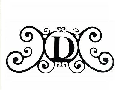 Iron Metal Letter D Personalized Initial Name Wall Art Decoration Minor Defect