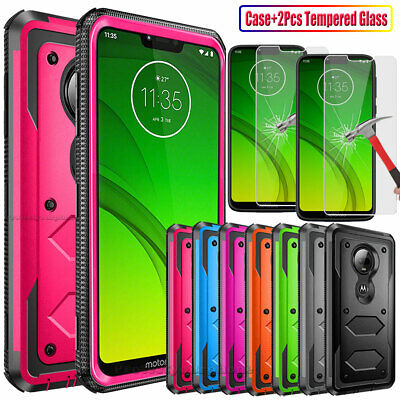 For T-Mobile Revvlry- PlusRevvlry Case Rugged TPU Cover Glass Screen Protector