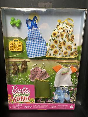 Barbie Sweet Orchard Farm Doll Clothes - Accessories Brand New outfits in box