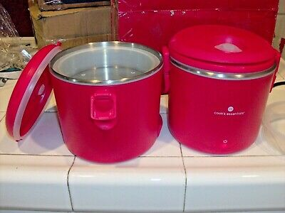 Cooks Essentials Set of 2 Electric Portable Warmers w Box RED