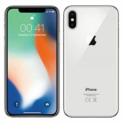 UNLOCKED Apple iPhone X 256GB Silver Smart Phone  h2O T-Mobile AT&T Ultra Metro