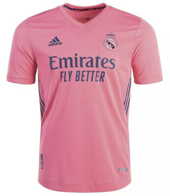 Adidas Real Madrid 2020-2021 Authentic Away Jersey GI6462 Pink - Small S NEW NWT