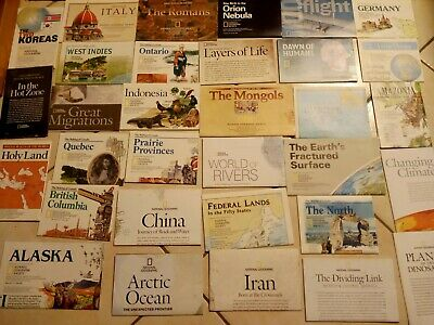 National Geographic Maps Lot Of 32 Excellent Condition Holy Land Italy Germany