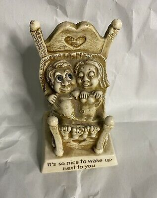1976 Russ Berrie Co Sillisculpt Figurine Its Nice To Wake Up To You 9216 Vin
