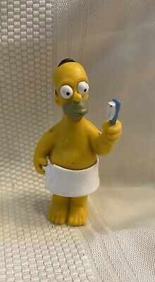 Vintage 1999 Fox Homer Simpson Action figure in  towel with toothbrush Toy