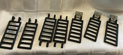 7 Lego black ladders 3 with clips castle pirates