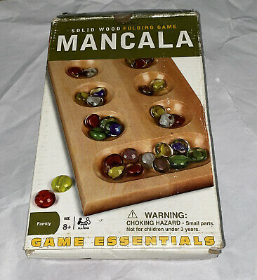 Classic Mancala game with Solid Wood folding gameboard Judgement And Strategy