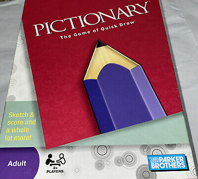 Parker Brothers Pictionary The Game Of Quick Draw Complete Board Game 2009