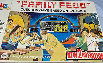 1978 Vintage  MILTON BRADLEY MB FAMILY FEUD Question BOARD GAME Second Edition