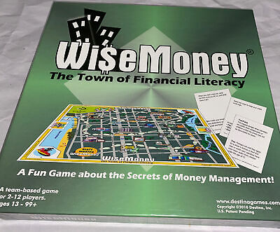 WISE MONEY Board Game The Town  on Financial Literacy Destina Money Management