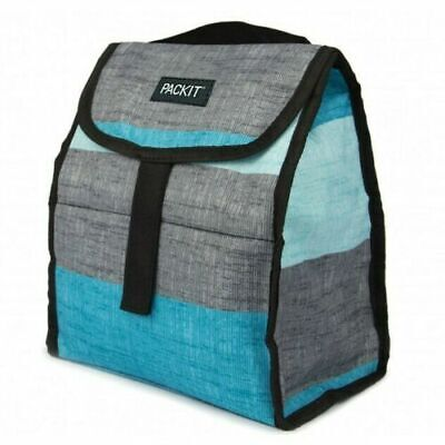 PackIt Freezable Lunch Bag Personal Cooler Grey Cools For Up To 10 Hours
