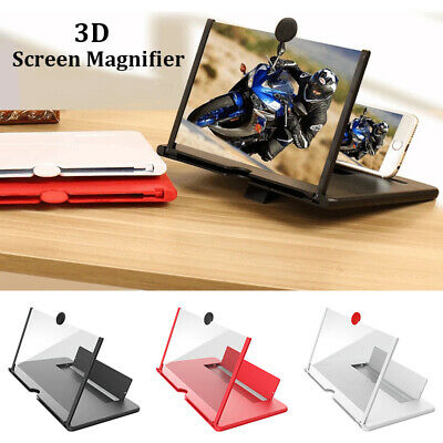 12 Pull-out Screen Magnifier Mobile Phone 3D HD Video Amplifier Stand Bracket