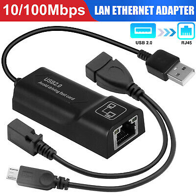 10100 Mbps USB to RJ45 LAN Ethernet Adapter for Amazon Fire TV Stick 32nd Gen