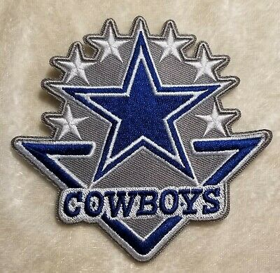Dallas Cowboys 6 Star Iron On Embroidered Patch US SellerFREE Ship