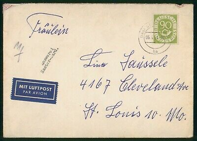 Mayfairstamps Germany 1954 to St Louis MO Cover wwo-60113
